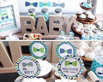 Baby Shower Decorations Boy Bow Tie Baby Shower Decorations Baby Shower  Decor Boy Baby Shower Little