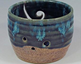 yarn bowl in tidepool glaze
