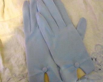 Demure Pale Blue Gloves