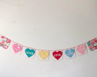 Valentines Conversations Hearts Banner