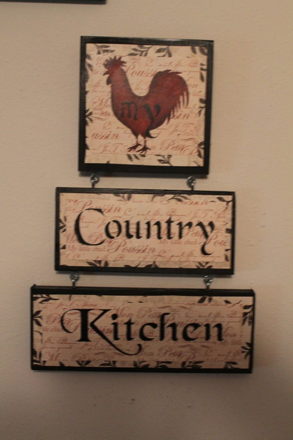 Rooster Decor....Country Kitchen Sign...Kitchen Decor..Home