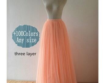 Adult women tulle skirt dress, adult tulle skirt, floor length wedding tulle skirt