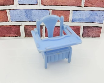 Reliable Plastics Baby Nursery Potty high  chair  Miniature  Doll House Toy Bedroom Child Nursery Blue Canadian Made