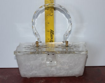 Lucite - Pearl and Clear - Purse Original by Gillie New York