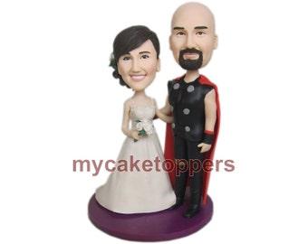 Thor wedding cake topper, thor, superhero, custom thor cake topper, thor cake topper