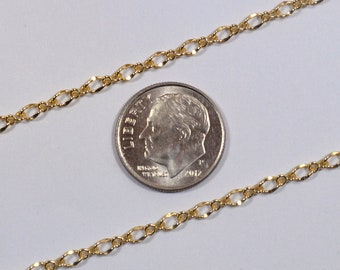 1:1 Twisted Figaro Chain - Gold Plated - CH170 - Choose Your Length