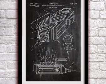 GHOSTBUSTERS - Ghost Trap - Fantasy Art Patent - Patent Print Poster Wall Decor - 0138