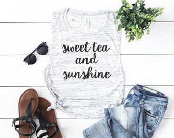 Southern Tank Top, Sweet Tea & Sunshine
