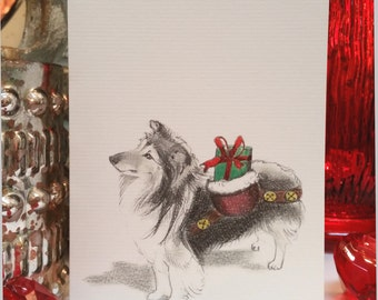 Sheltie Dog Holiday Card