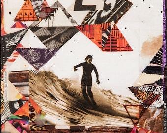 MELE TAPESTRY, New 8x10, 11x14, 16x20, Surf Art, Hand-Signed matted print, Surfer, Beach, Surfing, Textiles, Patterns, Ocean Art, Wall Art