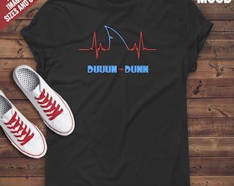 Shark HeartBeat T-Shirt - Perfect Tee-Shirt for funny Shark lover, shark protector and shark owner. Funny Shark T-Shirt