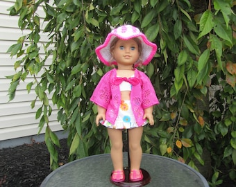Beach cover-up for dolls like American Girl