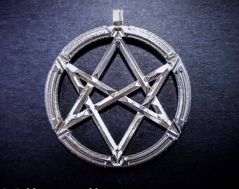 Unicursal Hexagram pendant - Occult hexagram pendant, Thelemic, 3D Printed.