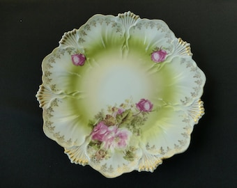 RS Prussia Mold 108b Wild Rose Decor Plate