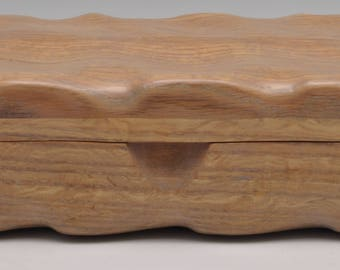 Oak Hurricane Katrina salvaged keepsake Treasure box Jewelry box