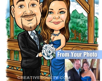 Caricature Portrait Cartoon, Groomsmen Caricatures, Family Caricature, Pet Caricature, Caricatures From Photo, Groomsmen Gifts, Groomsman