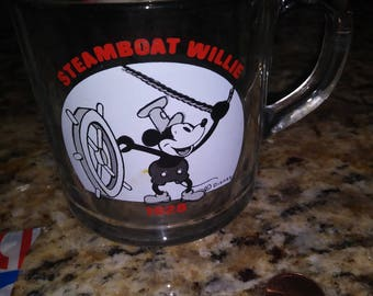 Steamboat Willy glass cup