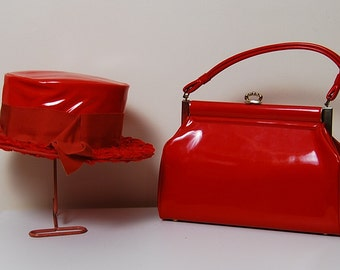 1960's VALENTINE Red Patent Leather Purse