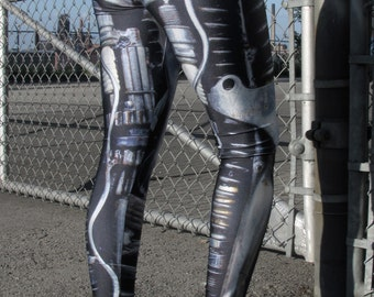 TAFI Machine Leggings - Steampunk Dieselpunk Mechanical/Robot Cyborg Costume Yoga Pants Black Milk Galaxy CosPlay Print