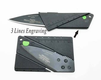 One Personalized Credit Card Knife Engraved Knife Custom Credit Card Knife Birthday Gifts-Free engraving