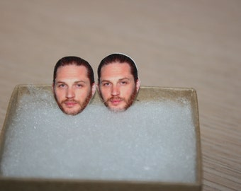 Tom Hardy Stud Post Earrings Celebrity Jewelry