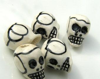 Porcelain Skull Beads    6