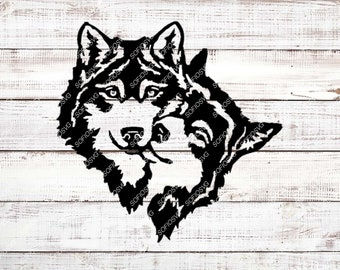 Wolfs Svg Files - Wolf Svg Original Design - Wolfs Clipart - Vector Graphics - Svg For Cricut - Svg For Silhouette - Dxf Design - Eps Design