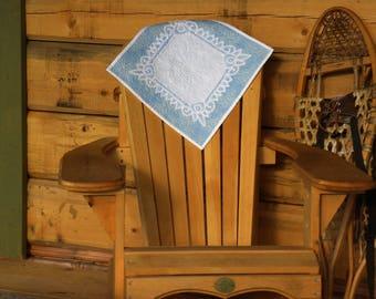 Vintage Linen Baby Blue Wholecloth 16x16