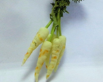 1:12 Scale Bunch Of Parsnips Dolls House Miniature Vegetable Kitchen Accessory