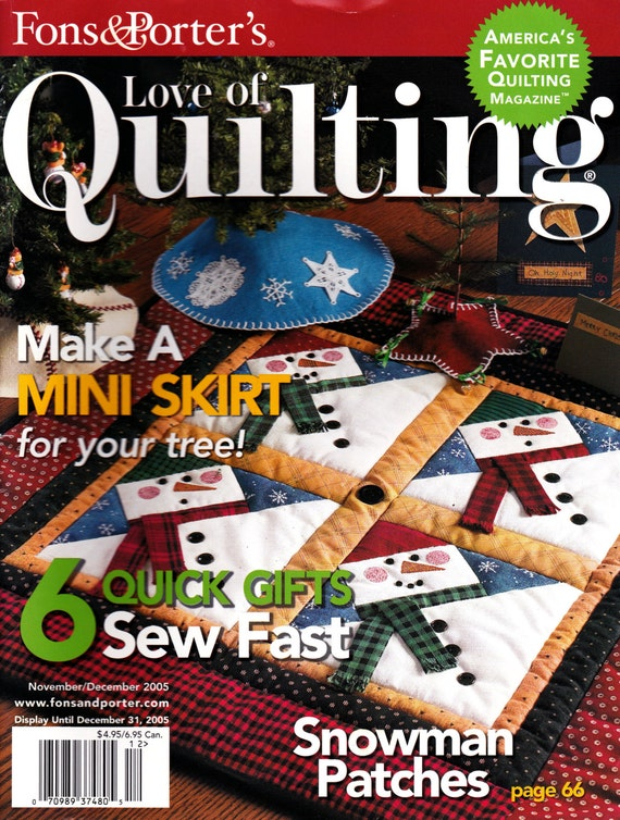 Fons Porters Love Of Quilting November December 2005