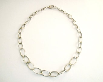 Necklace sterling Silver chain choker statement necklace sterling silver jewelry silver handmade chain everyday jewelry