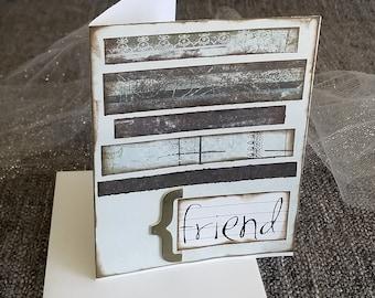 friend {handmade card}