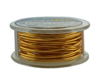 Craft Wire Tarnish Resistant Gold Round Wire 18ga 4yd (WR6718B)