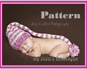PDF Pattern - Pixie Elf Hat -Pixie Hat - Baby Pixie Hat Pattern - Crochet Elf Hat - Baby Girl Hat- Girl Pattern -by JoJosBootique