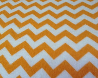 Orange and white chevron fitted crib /toddler sheet