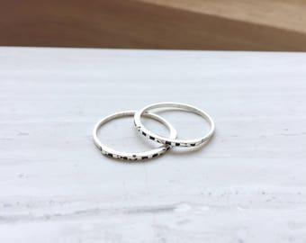 Delicate Feminist Sterling Silver Ring