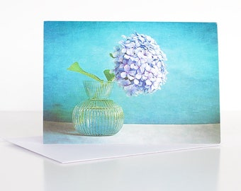 Photo greeting card, Floral greeting card, Flower greeting card, Hydrangea Greeting Card, Blank card