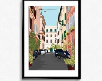 Italy Streetscape Print