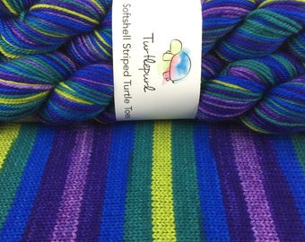 Mystic Topaz - Hand-Dyed Self-Striping MCN Sock Yarn