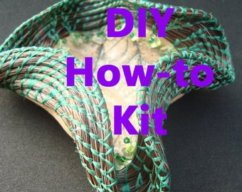 DIY KIT Horsehair Wave Basketry Kit How-To Complete, How To Make A Horsehair Basket, Horse hair, How to Coil with Horsehair, Miniature