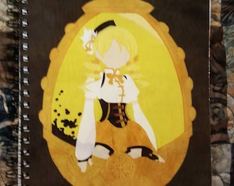 Yellow Anime Girl Fanart Notebook