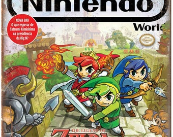 "Nintendo World Zelda Tri Force Heroes 10"" x 7"" Reproduction Metal Sign G259"