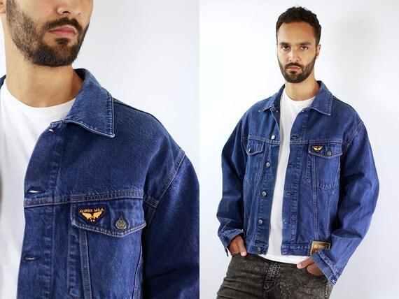 Vintage Denim Jacket Avirex Jean Jacket Denim Jacket Patches Jacket Trucker Jacket AVIREX Denim Jacket Vintage Trucker Jacket Grunge Jacket