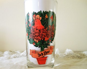 12 Days of Christmas Replacement Glass Indiana Glass Company, American Glass 3 French Hens 12 Days of Christmas 3rd Day Replacement Glass