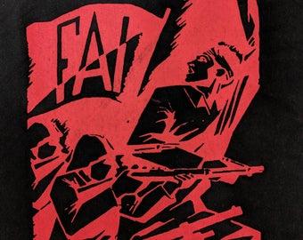 Camaradas, Al Frente! (anti-fascist, anarchist, FAI) sweatshirt or hoodie