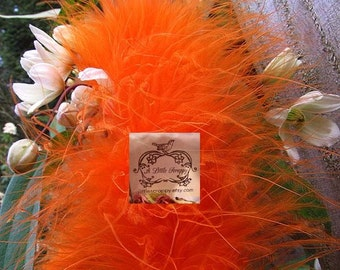 Orange Marabou Boa feathers