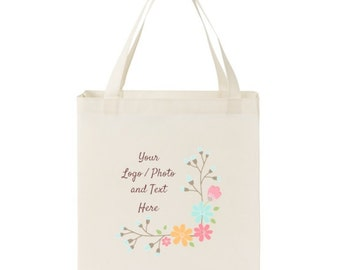 """20"""" X 13"""" X 8"""" Large Shopper Tote 15 Color Options Use Your Own LOGO or PHOTO Design Quantities 1-250+"""