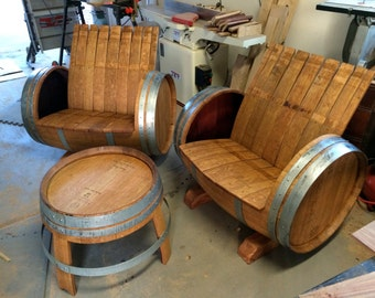 The Crew (2 Wine Barrel Chairs & 1 Table); FREE shipping in the Phoenix Valley