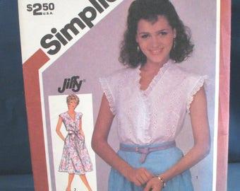 Vintage Simplicity Pattern 5882 Misses Dress or Top Sizes 16-18-20