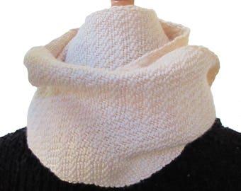 Cream cashmere and silk scarf